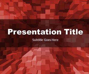 Stacked Boxes Red PowerPoint Template