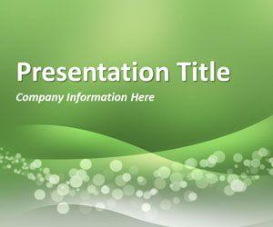 Wavy Green PowerPoint Template