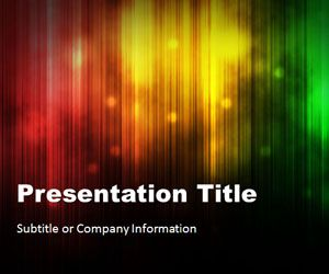 Northern Lights 01 PowerPoint Template