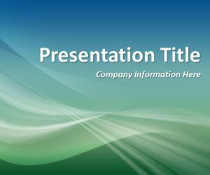 Abstract Curves 5 PowerPoint Template