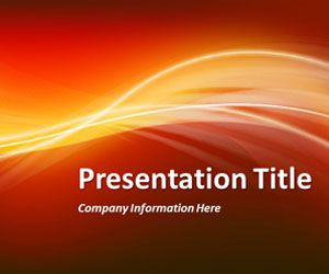 Abstract Curves 6 PowerPoint Template