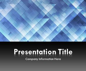 Light Triangles Blue PowerPoint Template