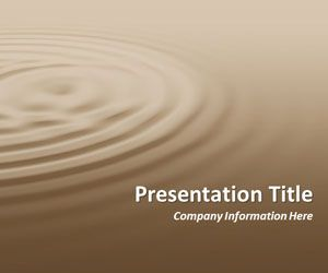 Ripples Coffee PowerPoint Template