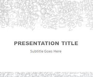 Alphabet Gray PowerPoint Template