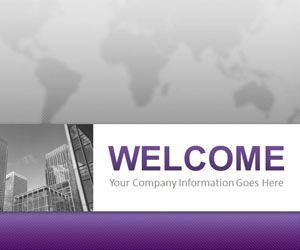 Corporate Business Purple PowerPoint Template