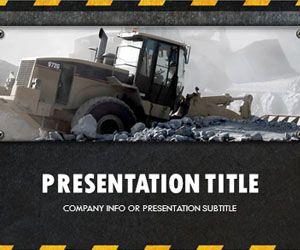 Plantilla PowerPoint de Construcción