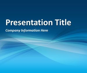 Abstract Curves 3 PowerPoint Template