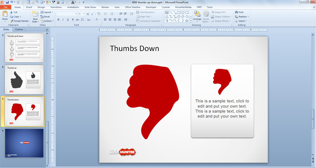Free Thumbs Down PowerPoint template