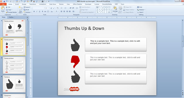 Thumbs Up picture for PowerPoint
