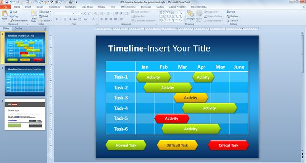 Simple Timeline Template for PowerPoint