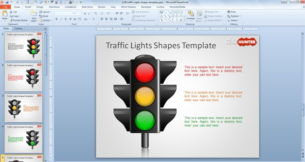 Traffic Lights Shapes Template