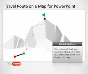 Travel Route on a Map Template for PowerPoint