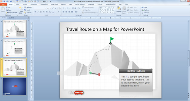 travel-route-on-a-map-powerpoint