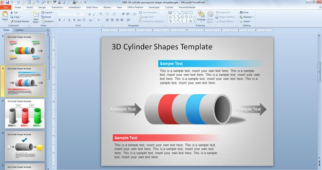 free tunnel powerpoint template