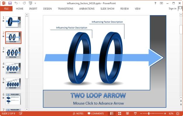 two loop powerpoint slide
