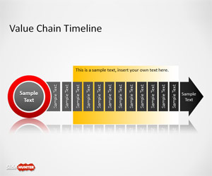 Value Chain Timeline Template for PowerPoint