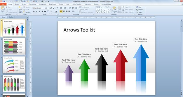 free vertical arrow powerpoint design