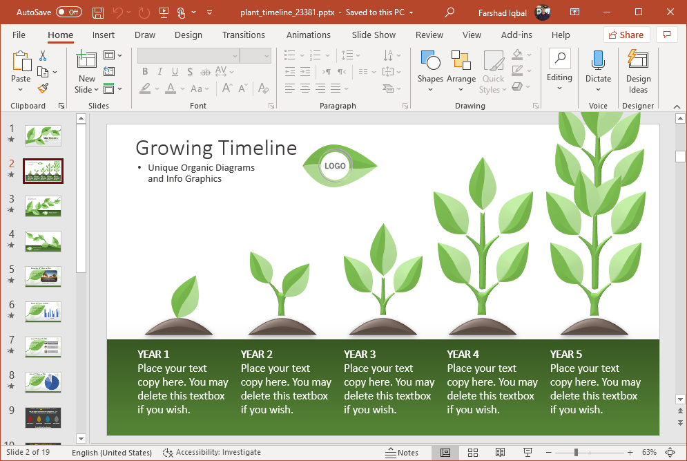 vine template for powerpoint