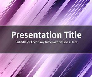 Slanted Bars Purple PowerPoint Template