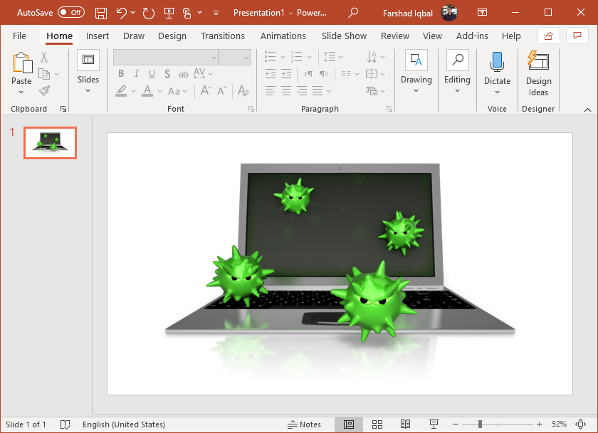 virus spores on laptop clipart