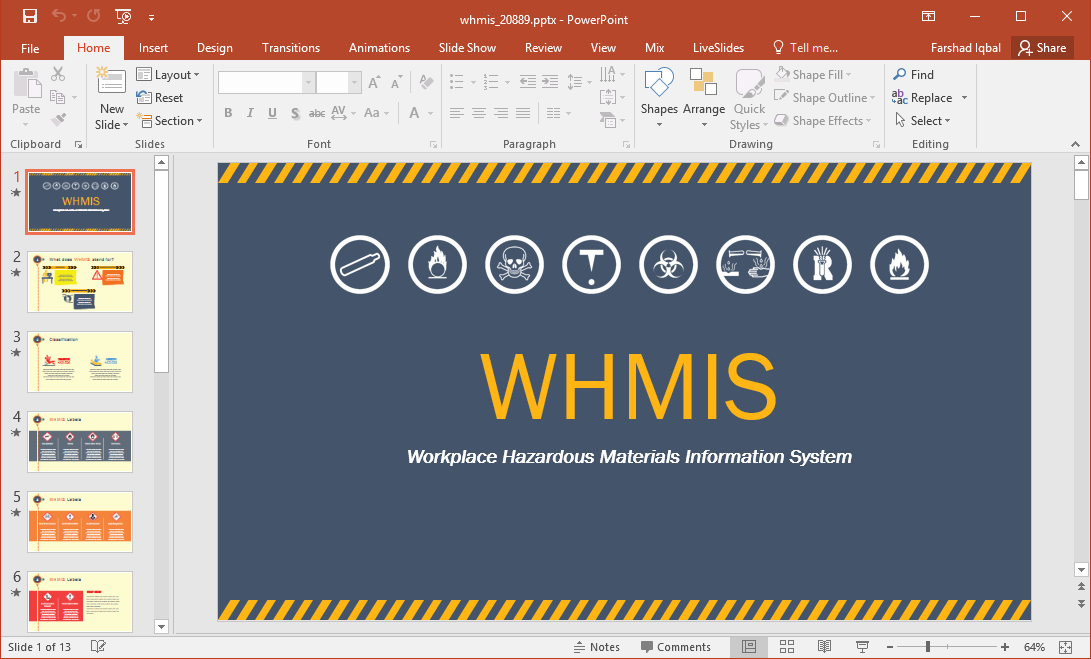 whmis powerpoint template