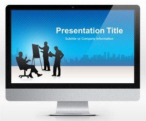 Widescreen Business Conference Blue PowerPoint Template (16:9)
