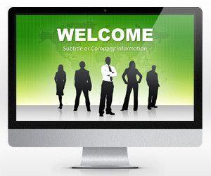 Widescreen Global Leader PowerPoint Template
