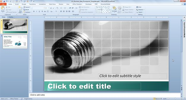 wide screen ppt template