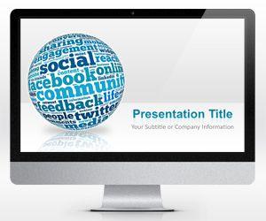 Widescreen Social Media PowerPoint Template (16:9)