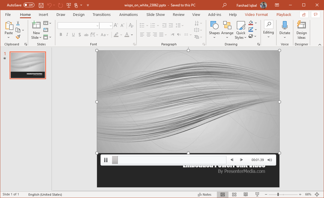wisps of white video background for powerpoint