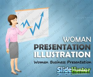 Woman Business Presentation Illustration Vector