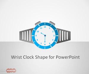 Wrist Clock Shape for PowerPoint